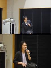 (上)村上 徹先生、(下)小川 麻理恵先生